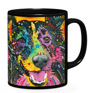 Dean Russo Smiling Collie Cool Gift - Coffee Mug