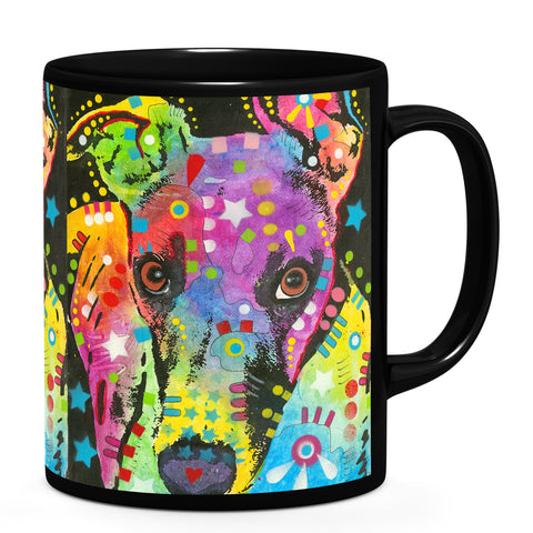 Image of Dean Russo Curious Greyhound Cool Gift - Coffee Mug