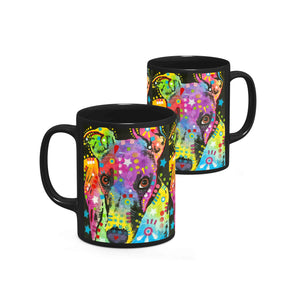 Dean Russo Curious Greyhound Cool Gift - Coffee Mug