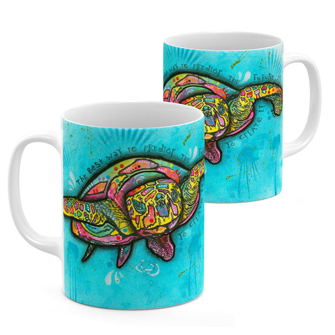 Image of Dean Russo Turtle Cool Gift - Coffee Mug