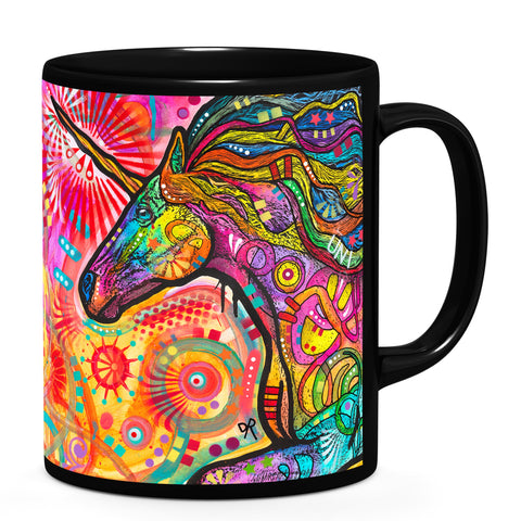 Image of Dean Russo Rainbow Unicorn Cool Gift - Coffee Mug