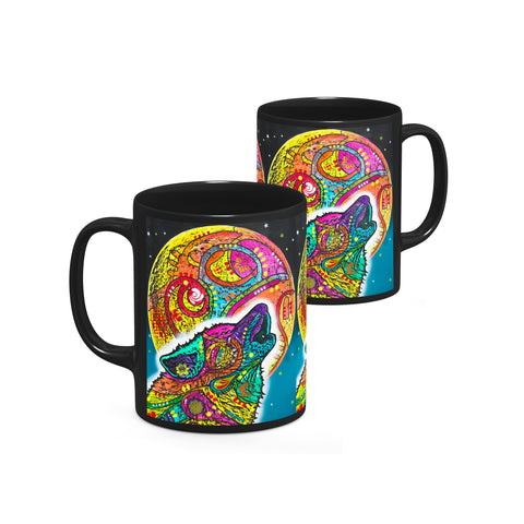 Image of Dean Russo Howling Wolf Cool Gift - Coffee Mug