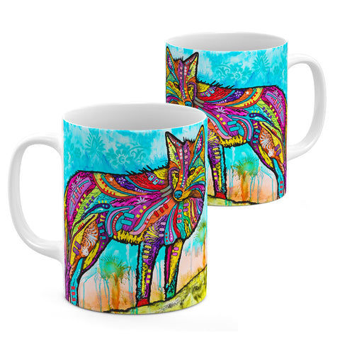 Image of Dean Russo Electric Fox Cool Gift - Coffee Mug