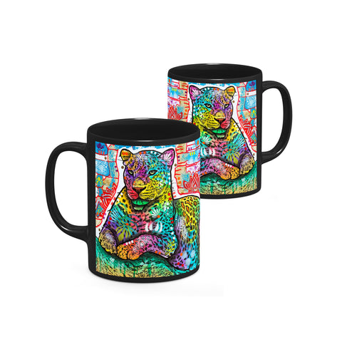 Image of Dean Russo Electric Leopard Cool Gift - Coffee Mug