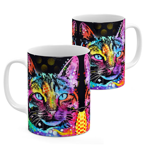 Image of Dean Russo Thoughtful Cat Cool Gift - Coffee Mug