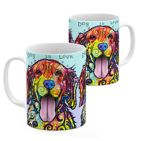 Image of Dean Russo Dog Is Love Cool Gift - Coffee Mug
