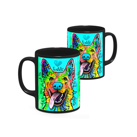Image of Dean Russo Love And A Dog Cool Gift - Coffee Mug