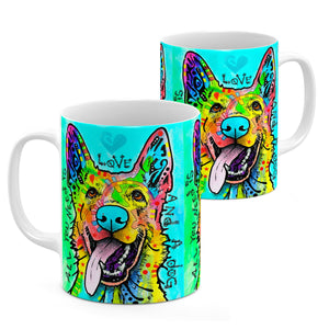 Dean Russo Love And A Dog Cool Gift - Coffee Mug