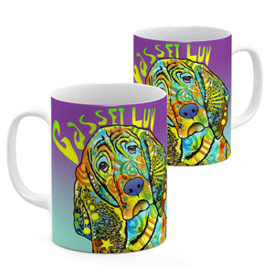 Dean Russo Basset Luv Cool Gift - Coffee Mug