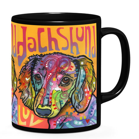 Image of Dean Russo Dachshund Love Cool Gift - Coffee Mug