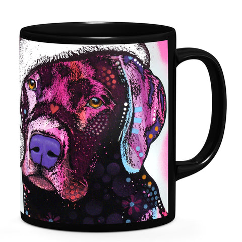Image of Dean Russo Black Lab Christmas Cool Gift - Coffee Mug
