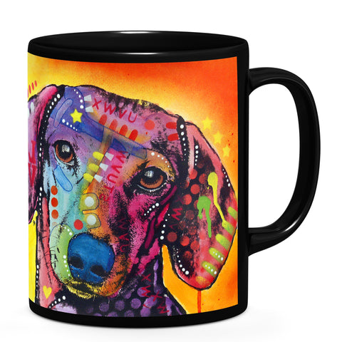 Image of Dean Russo Tilt Dachshund Love Cool Gift - Coffee Mug