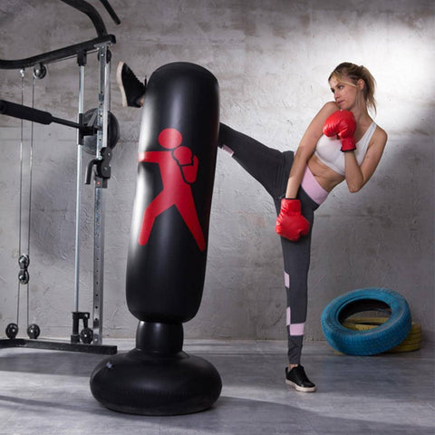Boxing Punch Bag Vertical Inflatable PVC Pillar - Bee Bee Shopping USA