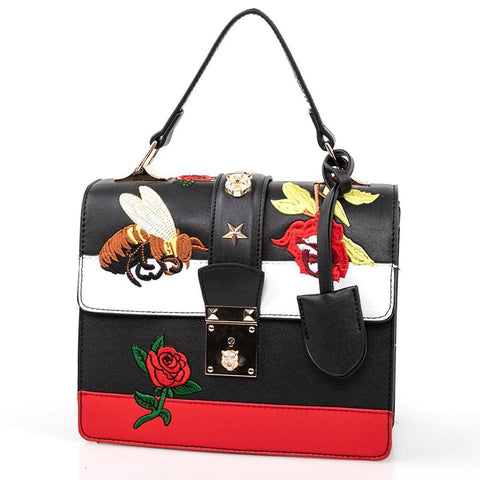 Image of OH Fashion Handbag Edgy in Black - Bee Bee Shopping USA