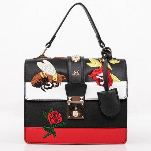 OH Fashion Handbag Edgy in Black - Bee Bee Shopping USA