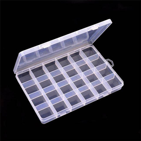 Plastic 24 Slots Jewelry Storage Box Case Craft - Bee Bee Shopping USA