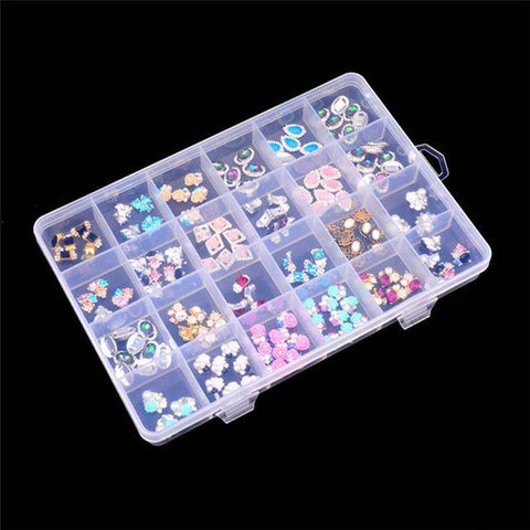 Image of Plastic 24 Slots Jewelry Storage Box Case Craft - Bee Bee Shopping USA