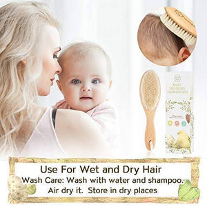 Baby Hair Brush and Comb Set for Newborn - Bee Bee Shopping USA