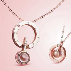 Image of Love Projection Pendant Necklace - Bee Bee Shopping USA