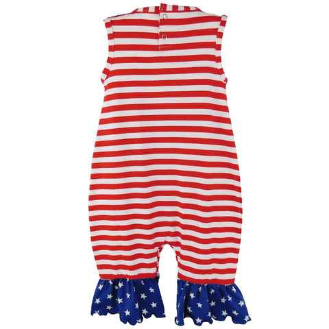 Image of Fourth of July I Heart America Flag Baby - Bee Bee Shopping USA