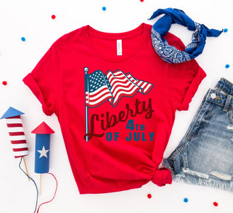 Liberty 4th of July T-shirt - Bee Bee Shopping USA
