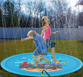 "Water Play Mat 68"" Sprinkler Splash Inflatable Water Fun Mat - Bee Bee Shopping USA"