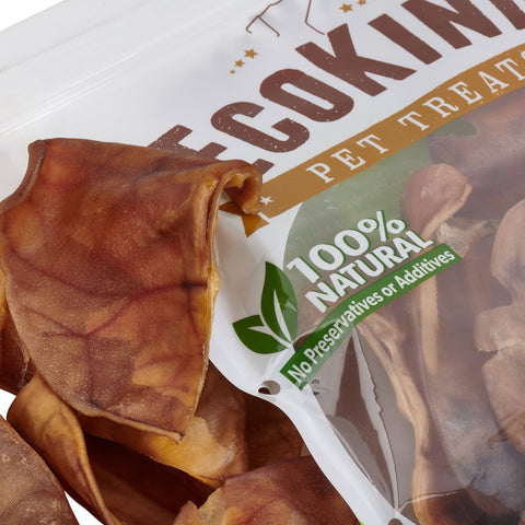 Brazilian Pig Ears by EcoKind Dog Treats and Chews Thick-Cut, All - Bee Bee Shopping USA