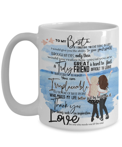 "Image of Mug for My Best Friend - ""To My Bestie"" 15oz white coffee mug"