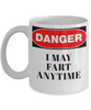 Danger I May Fart Anytime 11oz Mug - Bee Bee Shopping USA