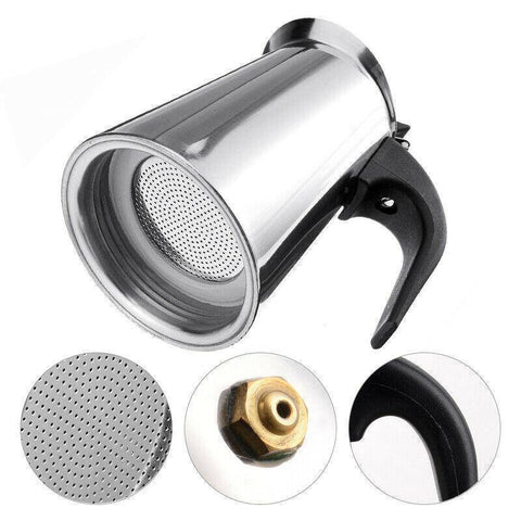 Stainless Steel Portable Espresso Machine - Bee Bee Shopping USA