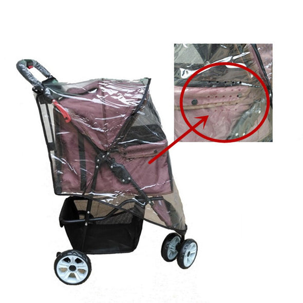 Windproof Pushchair Pram Dog Stroller Cover