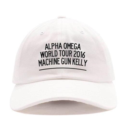 Alpha Omega World Tour 2016 White Dad Hat