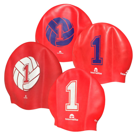 Team Elite Reversible Water Polo Silicone Swim Cap - Number 1 - Goalie