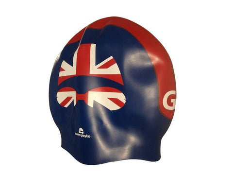 Team Elite GB Cap & Goggle Seamless Silicone Swim Cap