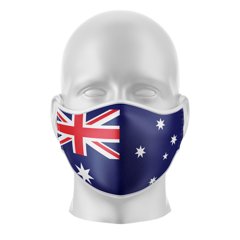 Australian Flag Reusable Face Mask - Adult