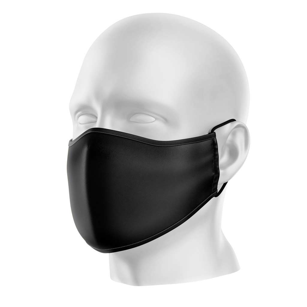 Reusable Face Mask - Plain Black