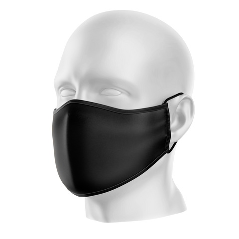 Washable Reusable Black Neoprene Mask