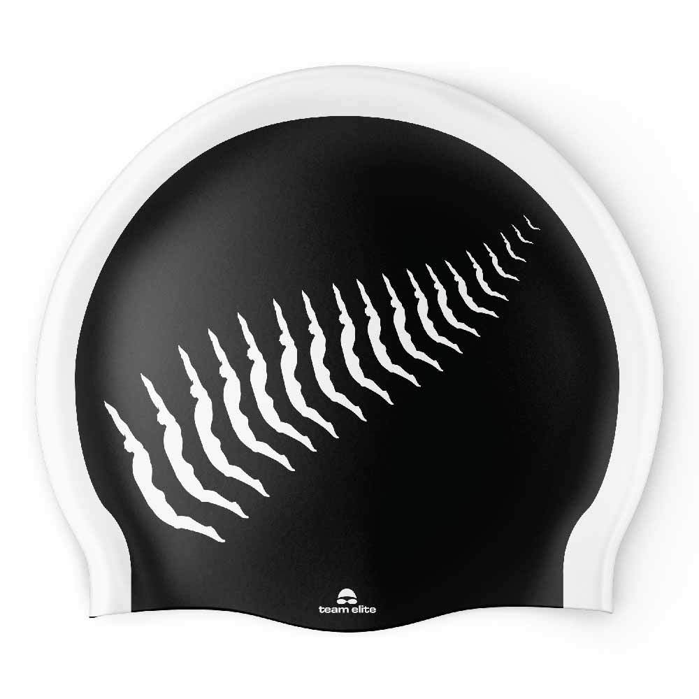 New Zealand (NZ) Swimmer Fern Seamless Silicone Swim Cap