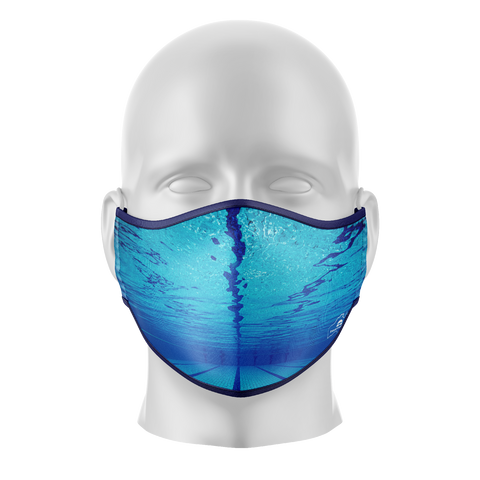 Underwater Image Reusable Face Mask - Adults
