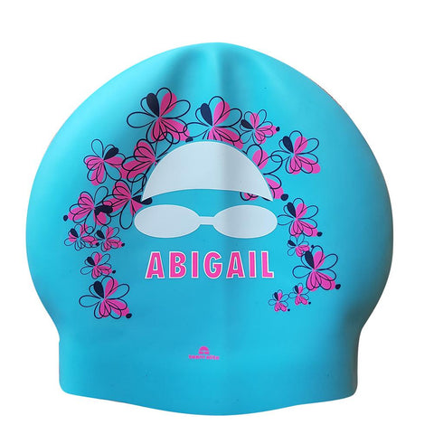 Seamless Silicone Name Swim Cap from Team Elite - Girls