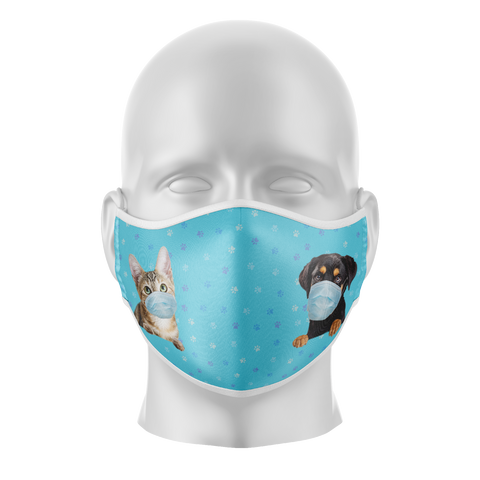 Pets Reusable Face Mask - Kids/Adults
