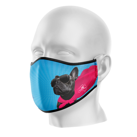 Super-dog Reusable Face Mask - Kids/Adults