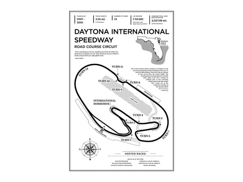 Daytona Road Course Art Print