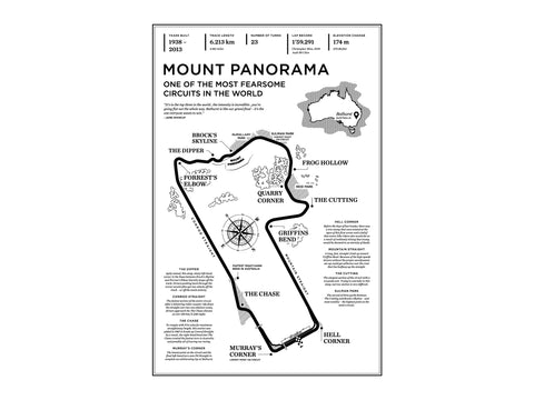 Mount Panorama Circuit Art Print