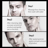 3Pcs Men Brightening Skin Cleanser Set