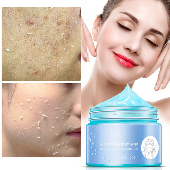 Facial Cleaner Face Body Moisturizing Whitening Exfoliating Cream Scrub Skin Peeling Gel 150g