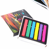 12/6pcs Hair Chalk Colors Hair Color Crayons