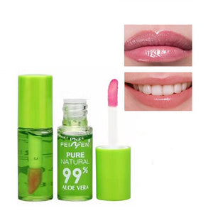 1pcs Changable Color Moisturizing Waterproof Aloe Lip Balm Nutritious Anti Aging Magic Lipgloss Natural Lipstick Lip Oil TSLM1