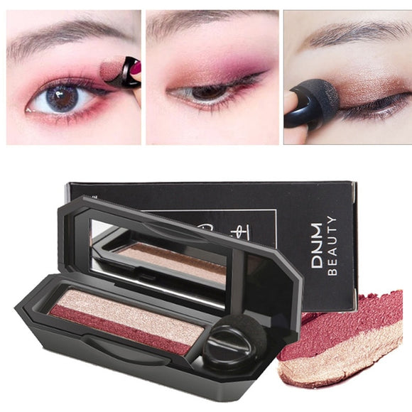 Double Color Lazy Eye Shadow Makeup Palette Glitter Palette Eyeshadow Pallete Waterproof Glitter Eyeshadow Shimmer Cosmetics