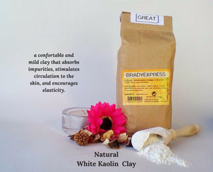 New Organic White Clay Kaolin Fine Powder Face Mask